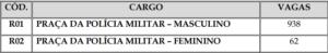 cargos 300x49 - Concurso PM RN: 1000 vagas e salário de até R$2mil