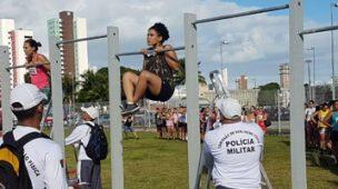 Avaliação física militar para admissão da Polícia Militar