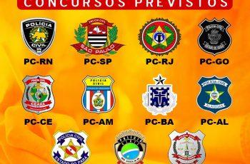 Concursos previstos para as carreiras policiais na área civil!