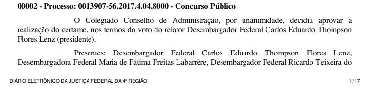 image 1 - Concurso TRF 4ª Região 2019, tem banca definida, confira!